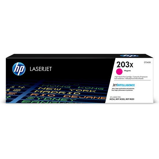 Toner imprimante HP 203X - Magenta (CF543X) - Haute capacité