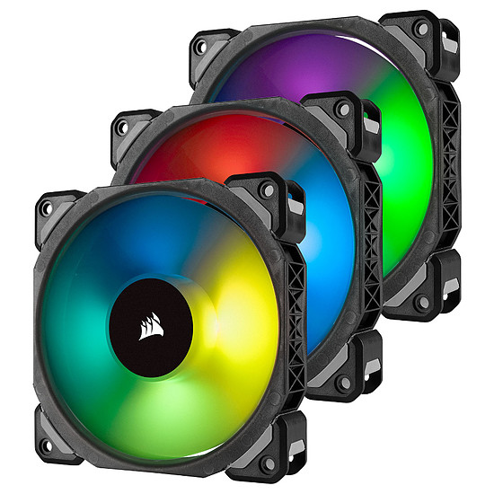 Ventilateur Boîtier Corsair ML120 PRO RGB PACK DE 3 + NODE PRO