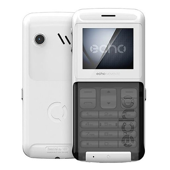 Smartphone et téléphone mobile Echo Memento (blanc)