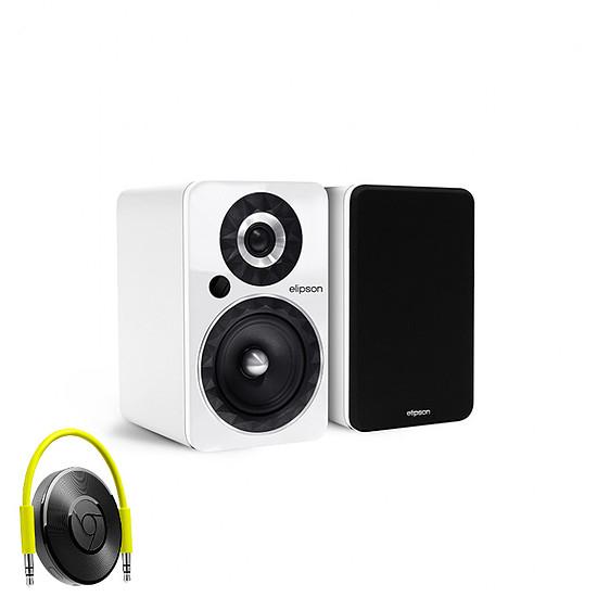Enceinte sans fil Elipson Prestige Facet 6B Bluetooth Chromecast Blanc - Enceintes compactes