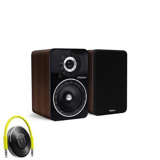 Enceinte sans fil Elipson Prestige Facet 6B Bluetooth Chromecast Marron