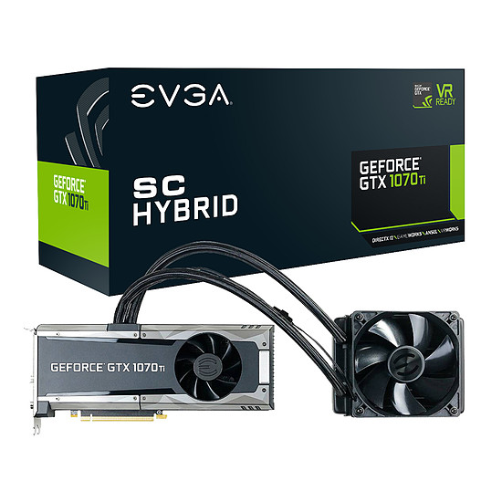 Carte graphique EVGA GeForce GTX 1070 Ti SC Hybrid Gaming - 8 Go