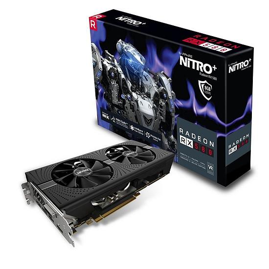 Carte graphique Sapphire Radeon RX 580 Nitro+ 8 Go (11265-03-20G) - Autre vue