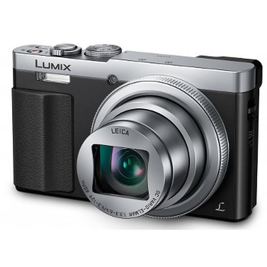 Appareil photo compact ou bridge Panasonic Lumix DMC-TZ70 Silver + Etui + carte SD 8Go (Pack)