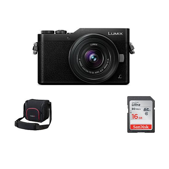 Appareil photo hybride Panasonic Lumix DMC-GX80 + 12-32 + Sacoche + SD 16Go (Pack)