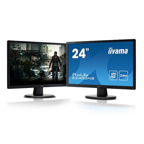 Écran PC Iiyama ProLite E2483HS-B3 x2 - Autre vue