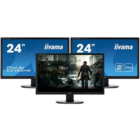 Écran PC Iiyama ProLite E2483HS-B3 x3