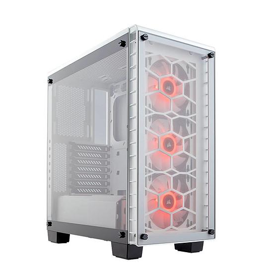 Boîtier PC Corsair Crystal 460X RGB - Blanc