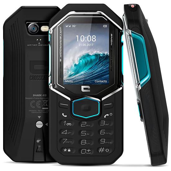 Smartphone et téléphone mobile Crosscall Shark-X3 (noir - bleu)