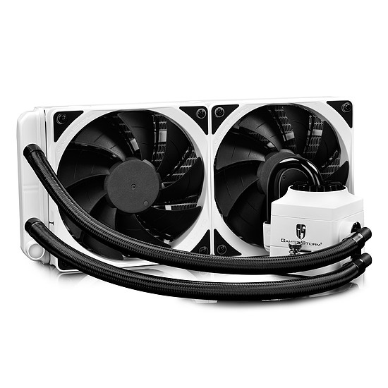Refroidissement processeur DeepCool Gamer Storm Captain 240 EX RGB Blanc - Autre vue
