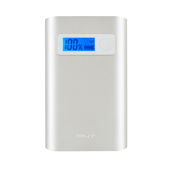 Batterie et powerbank PNY PowerPack Alu Digital 7800 mAh 2,4A / 1A - 2 USB