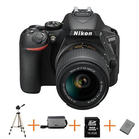 Appareil photo Reflex Nikon D5600+ 18-55+ Sacoche+ SD 16Go+ Trepied+ Batterie
