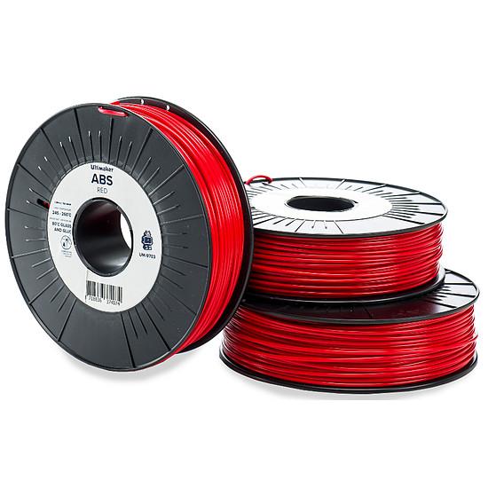 Filament 3D Ultimaker ABS Rouge - 2.85 mm - 750 g