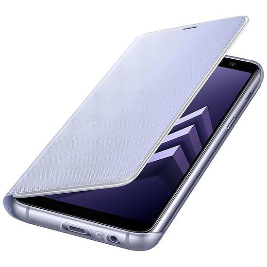 Coque et housse Samsung Etui Flip neon (lavande) - Galaxy A8