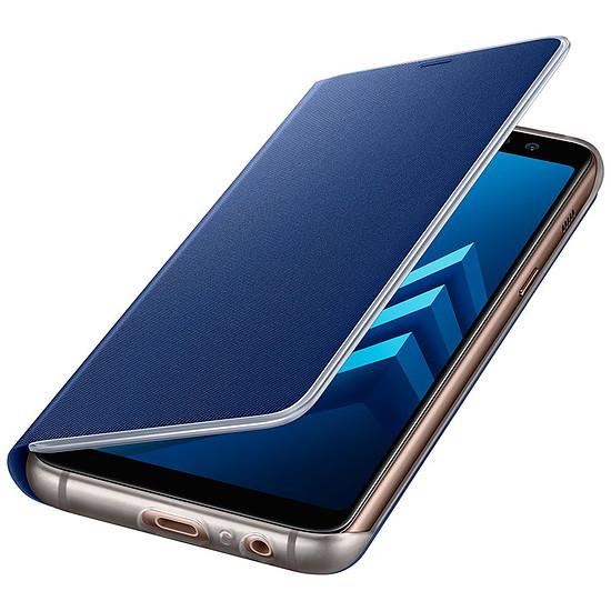 Coque et housse Samsung Etui Flip neon (bleu) - Galaxy A8