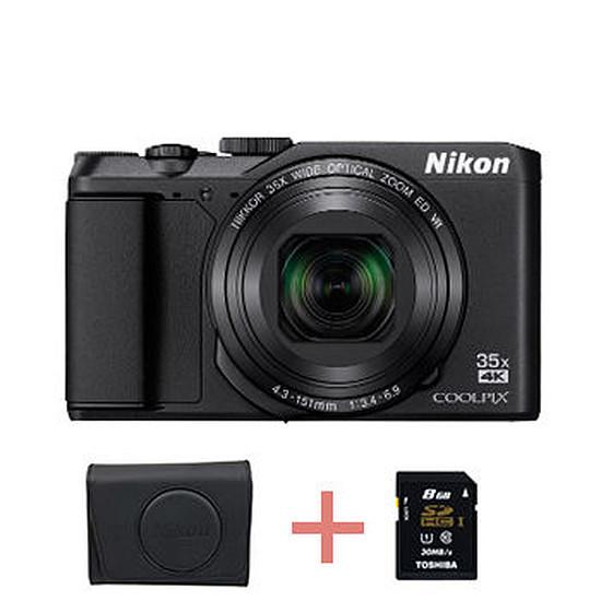 Appareil photo compact ou bridge Nikon Coolpix A900 Noir + étui + carte SD 8 Go (Pack)