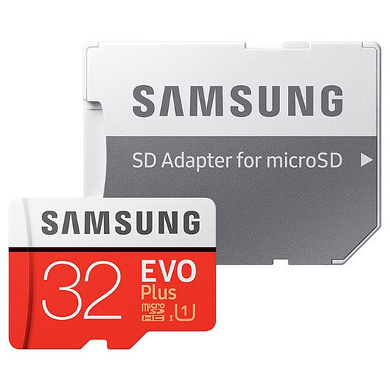 Carte mémoire Samsung Evo Plus SDXC 32 Go (95 Mo/s) + adaptateur SD