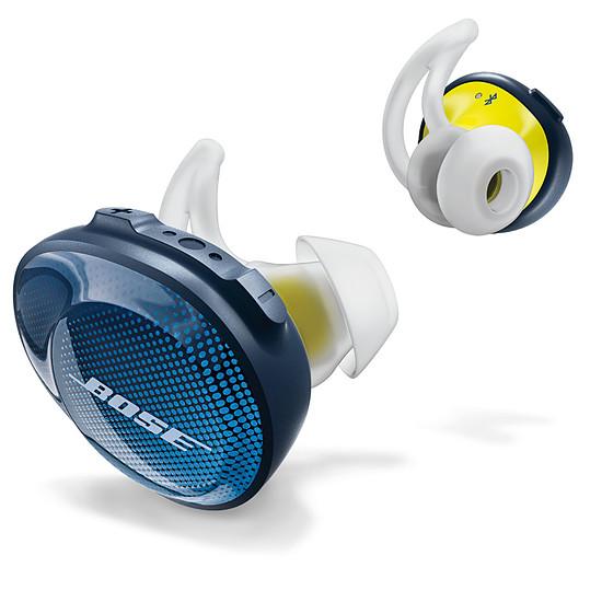 Casque Audio Bose Soundsport Free Bleu nuit / Jaune - Écouteurs sans fil - Autre vue
