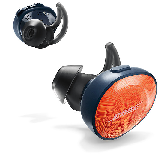 Casque Audio Bose Soundsport Free Orange vif / Bleu nuit - Ecouteurs sans fil  - Autre vue