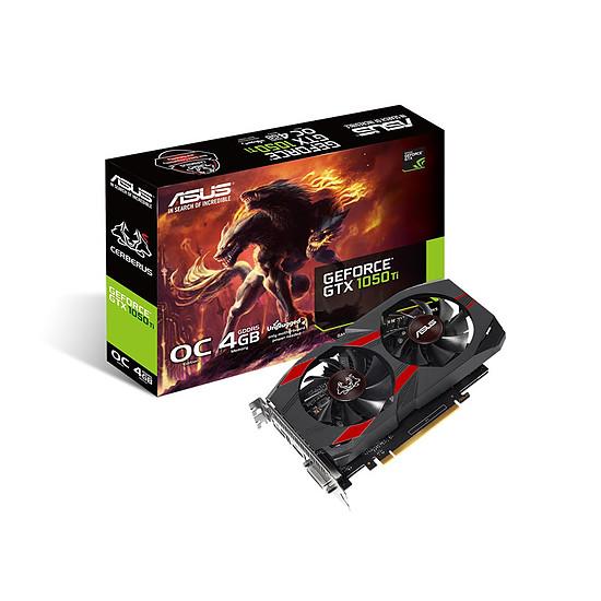 Carte graphique Asus Cerberus GeForce GTX 1050 Ti OC - 4 Go