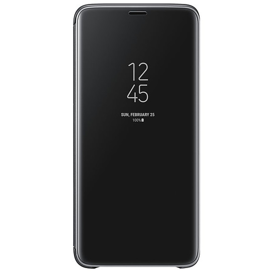 Coque et housse Samsung Clear view cover (noir) - Samsung Galaxy S9+