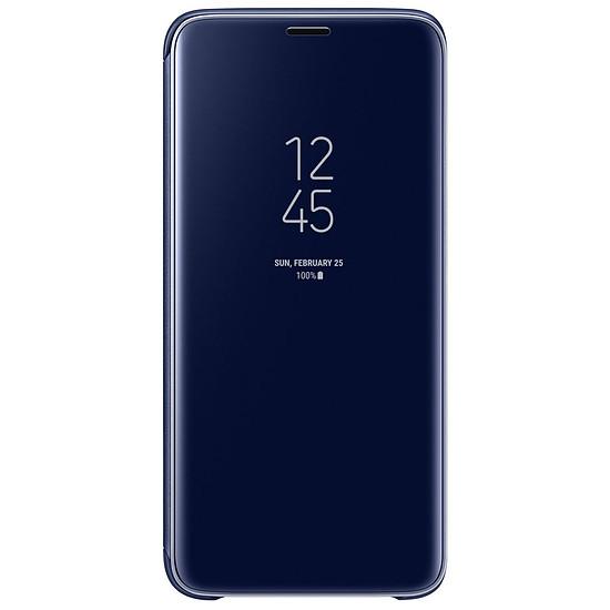 Coque et housse Samsung Clear view cover (bleu) - Samsung Galaxy S9