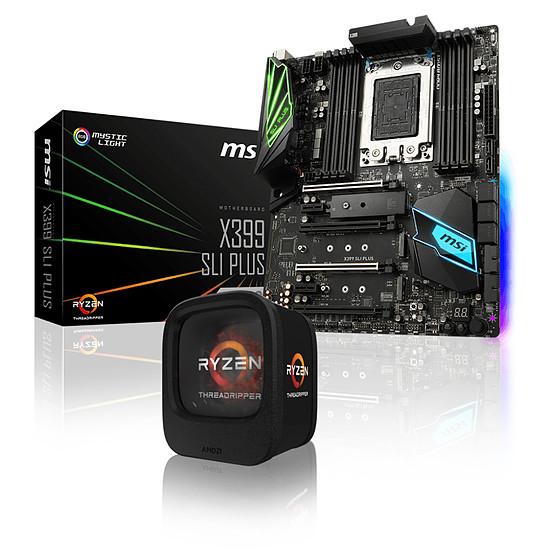 Processeur AMD Ryzen Threadripper 1900X + MSI X399 SLI PLUS