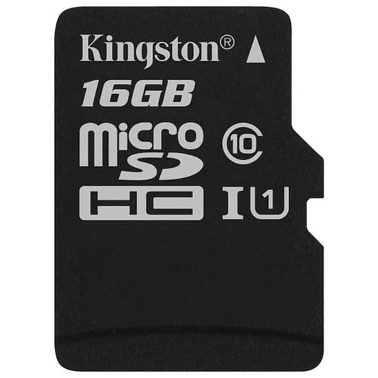 Carte mémoire Kingston microSDHC 16 Go Canvas Select (80Mo/s)