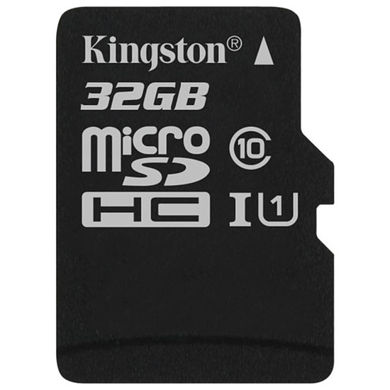 Carte mémoire Kingston microSDHC 32 Go Canvas Select (80Mo/s)