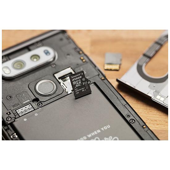 Carte mémoire Kingston microSDXC 128 Go Canvas Select (80Mo/s) + adapt SD - Autre vue