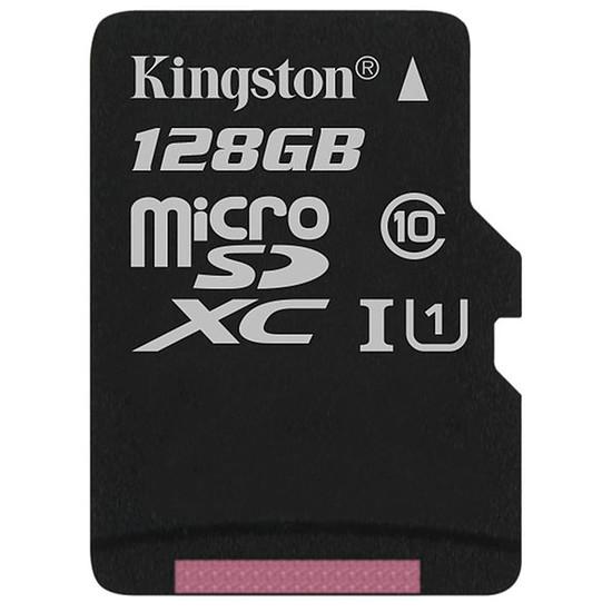 Carte mémoire Kingston microSDXC 128 Go Canvas Select (80Mo/s)