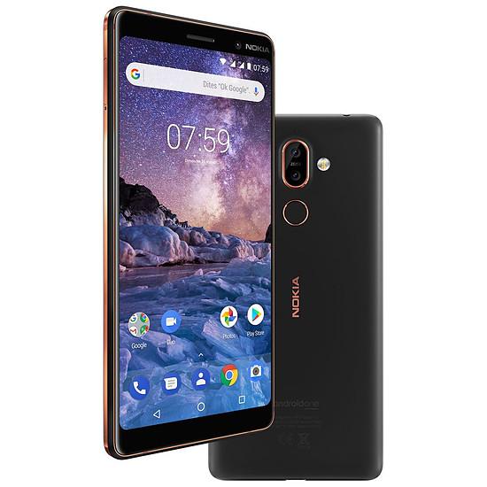 Smartphone et téléphone mobile Nokia 7 Plus (noir)