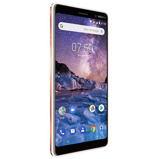 Smartphone et téléphone mobile Nokia 7 Plus (blanc) - Autre vue