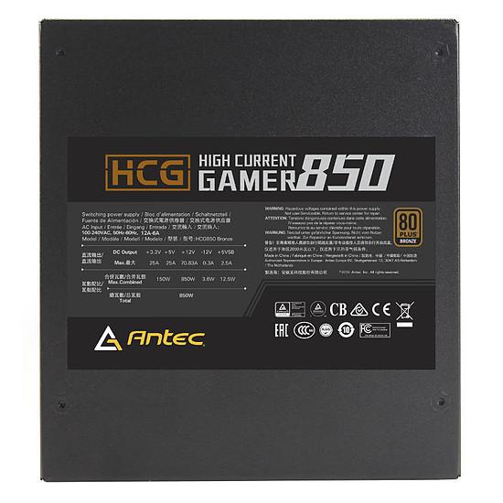 Alimentation PC Antec High Current Gamer HCG-850W Bronze - Autre vue