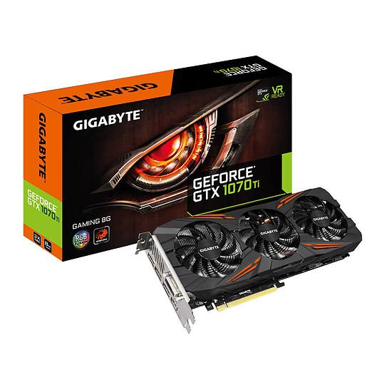 Carte graphique Gigabyte GeForce GTX 1070 Ti Gaming - 8 Go