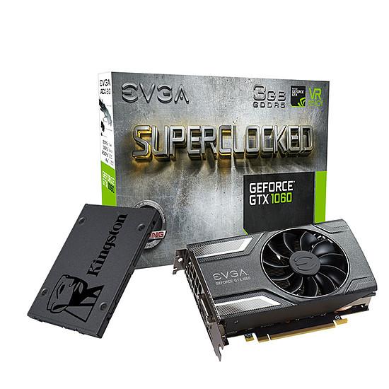 Carte graphique EVGA GeForce GTX 1060 SC Gaming + SSD Kingston A400