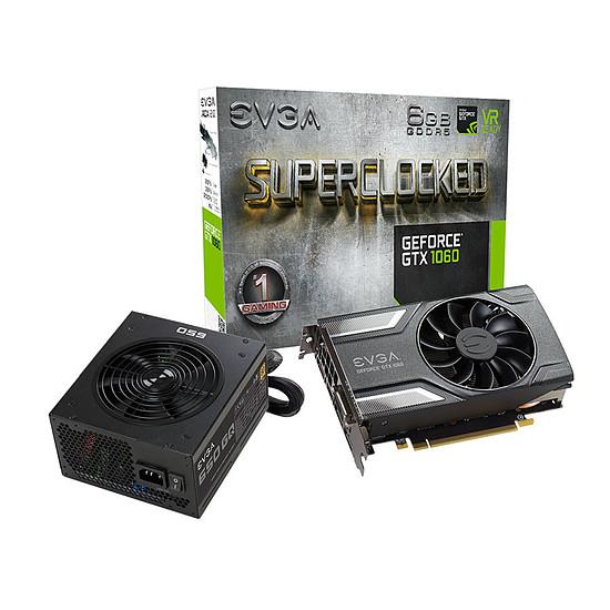 Carte graphique EVGA GeForce GTX 1060 SC Gaming - 6 Go + SuperNova GQ