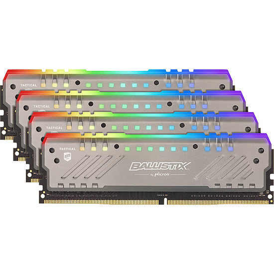 Mémoire Ballistix Tactical Tracer RGB 64 Go (4 x 16 Go) DDR4 2666