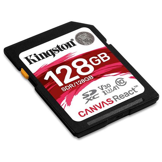 Carte mémoire Kingston SDXC 128 Go Canvas React (100 Mo/s) - Autre vue