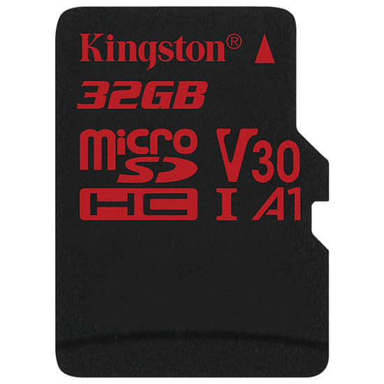Carte mémoire Kingston microSDHC 32 Go Canvas React (100Mo/s)