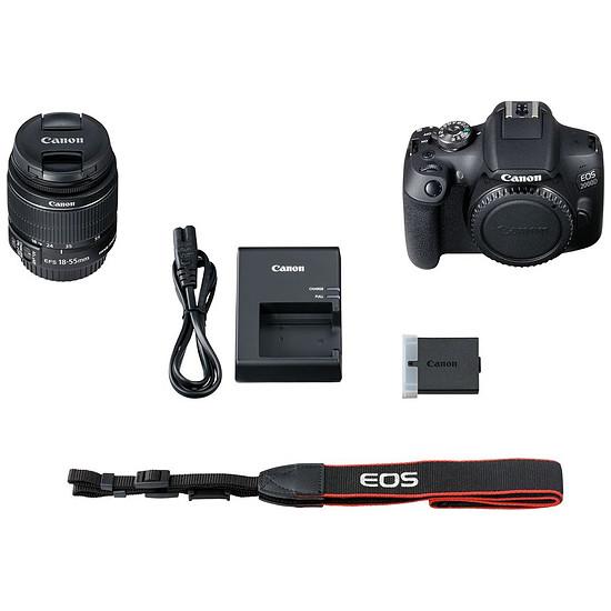 Appareil photo Reflex Canon EOS 2000D + EF-S 18-55 mm - Autre vue