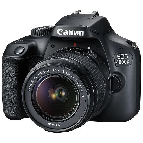 Appareil photo Reflex Canon EOS 4000D + EF-S 18-55 mm f/3.5-5.6 III - Autre vue