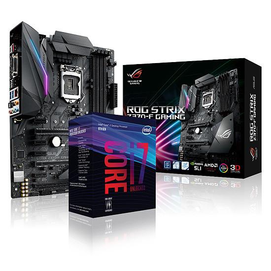Carte mère Asus STRIX Z370-F GAMING + INTEL CORE I7 8700K