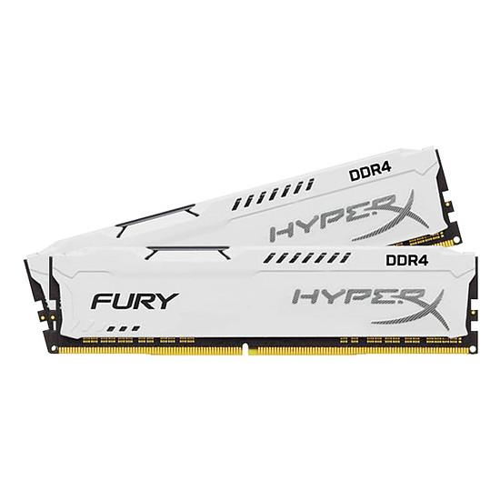 Mémoire HyperX Fury White DDR4 2 x 8 Go 3200 MHz CAS 18