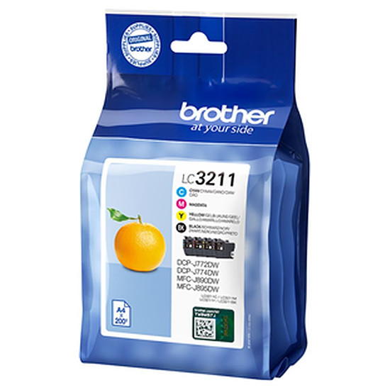 Cartouche d'encre Brother LC3211VAL Pack 4 couleurs