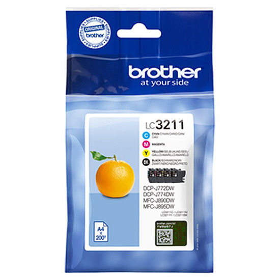 Cartouche imprimante Brother LC3211VAL Pack 4 couleurs - Autre vue