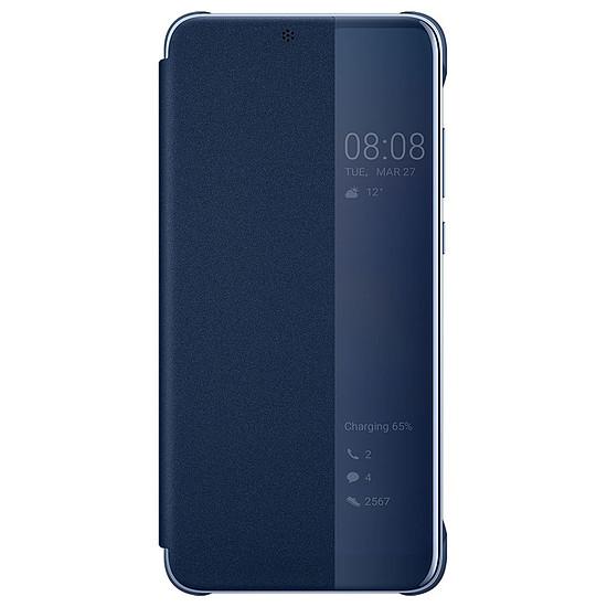 Coque et housse Huawei Etui Flip Smart View (bleu) - Huawei P20 Pro