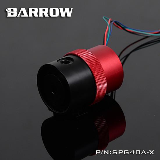 Watercooling BARROW SPG40A-X - POMPE 18W CARÉNÉE NOIR / ROUGE