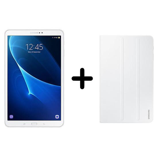 """Tablette Samsung Galaxy Tab A 2016 10.1"""" 32Go Wi-Fi - Blanc + Cover"""