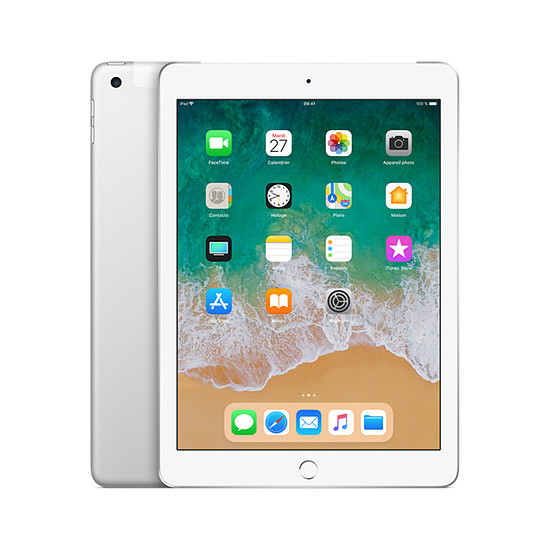 Tablette Apple iPad (2018) Wi-Fi + Cellular - 128 Go - Argent